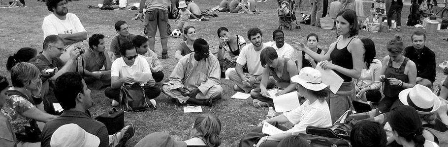 U40 Fellows discuss the U40 Proposals in Paris 2009.