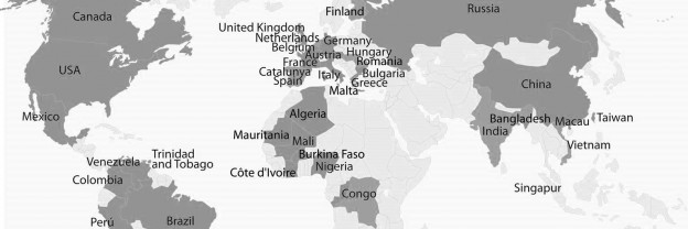 World Map with U40 presence